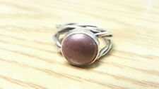 Ring 925 Sterling Silver*Size 8*F148 Beautiful Vintage Red Purple Gems Band