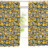 "Sea of Minions Pleated Curtains 54"" or 72"" Drop Gift Despicable Me Polycotton"