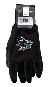 San Jose Sharks NHL Ice Hockey 2 Tone Mens Gloves