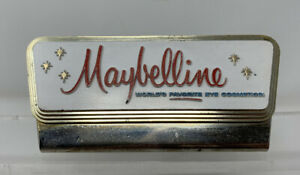 Vintage Maybelline Eye Cosmetics Store Counter Display Sign
