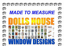 Miniature Stained Glass Dolls House Windows