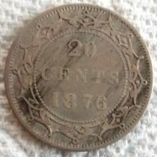 1876 H Canada NEWFOUNDLAND 20 Cents KM# 4 .925 Silver Coin