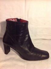 Carvela Black Ankle Leather Boots Size 39