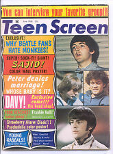 TEEN SCREEN  June 1968 (6/68) - Complete Issue