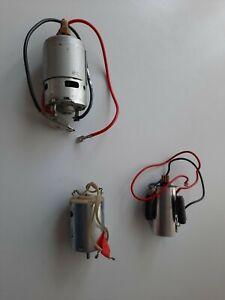 3 X MODEL BOAT ELECTIC MOTORS 6/12 VOLT