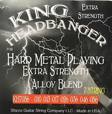King Headbanger Hard Metal Playing Electric Guitar Strings KH7056 7-string 10-56