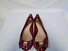 Ted Baker Burgundy Jelly Flats Size 6 (D4-A)