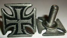 SCREW BACK LICENSE PLATE BOLT WITH IRON CROSS HEAD