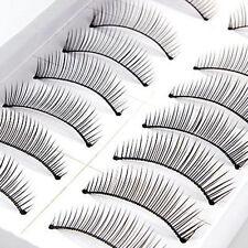 10 paires faux cils longs naturels    , conformes 3,5 sur 1 cm NEUF  N° 003