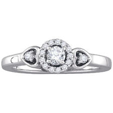 in Solid 10k White Gold Finish 1.20Ct Round Cut Diamond Halo Engagement Ring