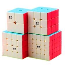Qiyi 4 Pack Speed Cubes Bundle 2x2 3x3 4x4 5x5 Stickerless Twist Speed Cube Set