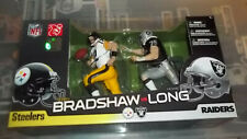 Terry Bradshaw and Howie Long McFarlane 2 Pack Steelers Raiders Fast Shipment