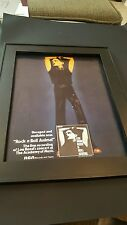 Lou Reed Rock N Roll Animal Rare Original Promo Poster Ad Framed!