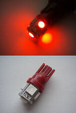 RED 2x 5 RED SMD LED sidelight interior roof footwell wedge bulbs T10 501 W5W