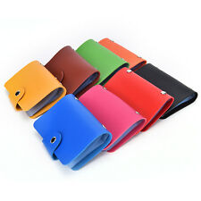 24 Bits Credit Card Holder PU Leather Unisex ID Package Organizer Manager