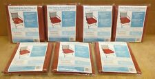 LOT of 7 Arden Outdoor Red Deep Seating Box Seat Slipcover (s) FREE SHIP 221