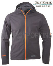 1-DRIFT CREEK #1630 PHANTOM/ORANGE TECH RAIN GEAR HOODED MENS JACKET GOLF BEACH