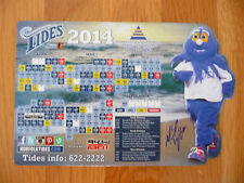 BALTIMORE ORIOLE MIKE WRIGHT AUTOGRAPHED 2014 NORFOLK TIDES SCHEDULE MAGNET