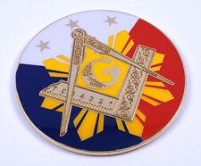 "Masonic Philippine 3""  Metal  decal Emblem 3D  Freemason Mason Philippines MAS2"