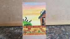 """Original Watercolour Painting ACEO """"Mischief In The Garden"""" by Colin Coles"""