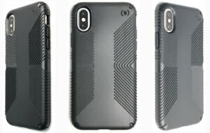 Speck Presidio GRIP Impact Protection Case Cover for Apple iPhone XS & X BLACK