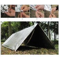 Outdoor Emergency Camping Tent Blanket Sleeping Bag Survival Reflective Shelter