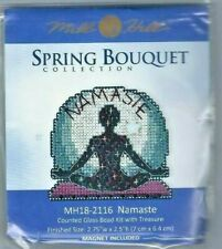 Namaste Yoga Buttons & Beads Spring Series Mill Hill Cross Stitch