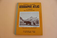 Géographie Atlas Le Monde Editions Ecole Paris Pinardel 5 Ed 1959 ecole scolaire