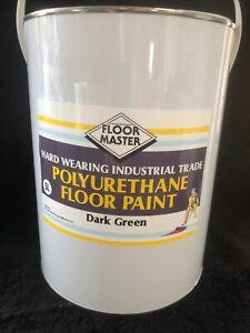 FLOOR MASTER GARAGE/WORKSHOP FLOOR PAINT 5LT DARK GREEN used By the Professional