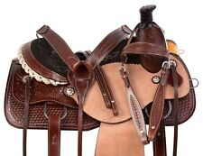 "15"" 16"" COWBOY WESTERN RANCH ROPING PLEASURE TRAIL CUTTING SADDLE HORSE TACK SET"
