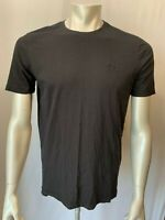 HUGO BOSS Men's Large Black Short Sleeve Regular Fit Crew Neck Logo T Shirt