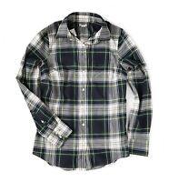 J.Crew Factory Women's M - Light-Weight Navy/Green Glen Plaid Button-Down Shirt