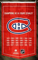 Montreal Canadiens NHL Stanley Cup Championship Flag 3x5 ft Red Sports Banner