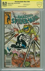 Amazing Spider-Man 299 CBCS 8.0 White Pages signed McFarlane 1st Venom Cameo 🔑