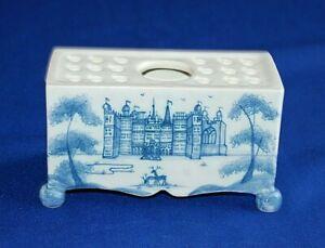 Deborah Sears Isis Ceramics Oxford, Blue & White English Delft Flower Brick.