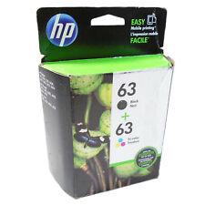 2PK GENUINE HP 63 for Deskjet 2130 3630 ENVY 4520 Officejet 3830 4650 5220 5260