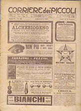CORRIERE DEI PICCOLI 4 SETTEMBRE 1910 anno II NUMERO 36  CON SOVRACOPERTINA