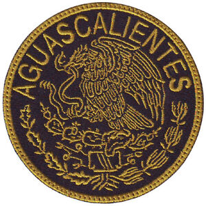 Aguascalientes Mexico Eagle Shield Embroidered Patch