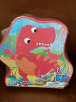 A Dinosaur 72 Piece Jigsaw Puzzle With Two Prehistoric Story Books Free Shipping