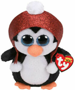 """TY Christmas Beanie Boos 6"""" GALE the Holiday Penguin Plush Animal Toy MWMTs"""