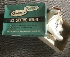 New listing Vintage Canadian Rocket Ice Skates Men's Size 9.5 In Original box, Made In Usa