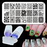 Born Pretty Nagel Stamping Schablone Platte BP-L005 mit Clear Jelly Stempel Tool