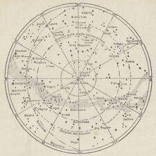 C2756 Emisfero celeste boreale - Carta geografica d'epoca - 1936 vintage map