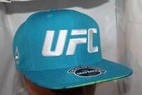 Reebok UFC Ultimate Fan Snapback Hat Baseball Cap Blue White AL2063 NEW