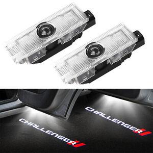2pcs LED Logo Door Courtesy Laser Light HD For Dodge Challenger 2008 - 2019