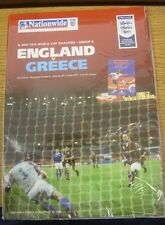 06/10/2001 England v Greece [At Manchester United] .  We are pleased to be able