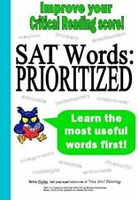 Sat Words--Prioritized by Bettie Wailes (2012, Paperback)