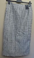 Marks & Spencer UK8R EU36R US4R new black/white-mix tweed lined skirt with wool