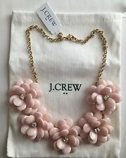 NWT J Crew Crystal Floral Burst Statement Necklace Pale Pink $69.50 #A6078