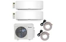 Klimaire 18000 BTU 2-Zone 12Kx2 Duel wall 21 Seer AC Mini Split Heat Pump Remote